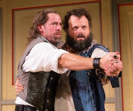 Ian Merrill Peakes and Scott Greer in La Bete (Arden Theatre Company)