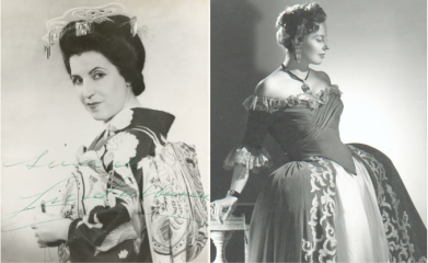 Licia Albanese as Madama Butterfly (left); Magda Olivero as Adriana Lecouvreur (right)
