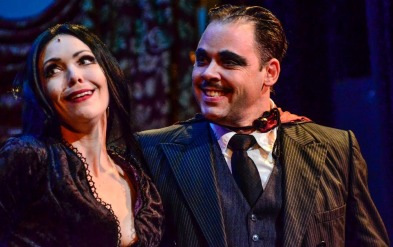 Jennie Eisenhower and Jeffrey Coon in The Addams Family (Media Theatre)