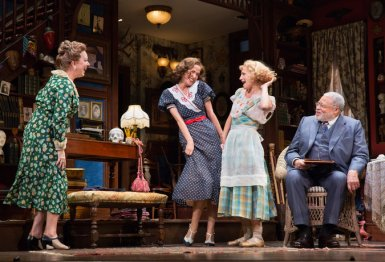 Kristine Nielsen, Rose Byrne, Annaleigh Ashford, and James Earl Jones in You Can't Take It With You.