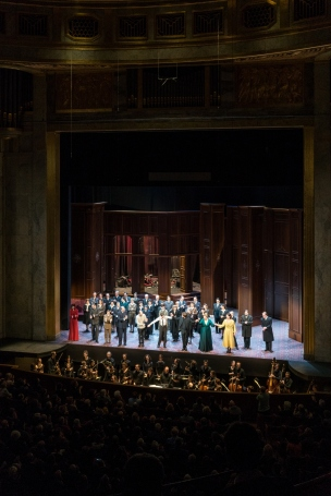 Curtain call, La Clemenza di Tito at Theatre des Champs Elysees (photo by Simon Roberts).