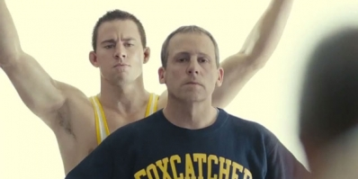 Channing Tatum and Steve Carell in Foxcatcher