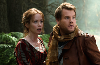 Emily Blount and James Cordon in Into the Woods