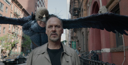 Michael Keaton and Alter Ego in Birdman