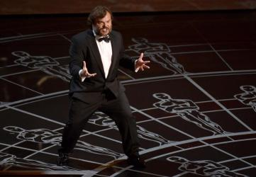 Jack Black at the Oscars -- one brief, shining moment