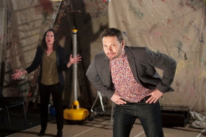 Corinna Burns and Tom Dugan in Long Live the Little Knife at Inis Nua (photo by Katie Reing)