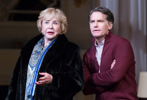 Michael Learned (Katharine) and James Lloyd Reynolds (Cal) in Mothers and Sons at Philadelphia Theatre Company (photo by Mark Garvin)