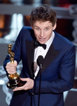 Eddie Redmayne -- apparently as surprised as I was