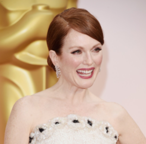 Julianne Moore -- not crying!