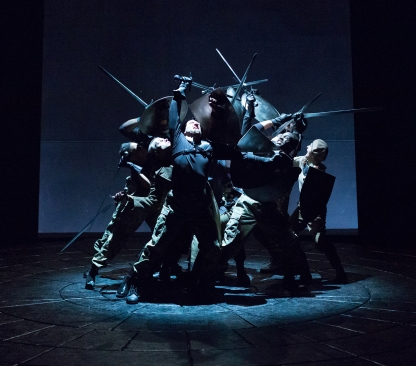 Ensemble in Arden Theatre Company's production of Macbeth. Photo by Mark Garvin.