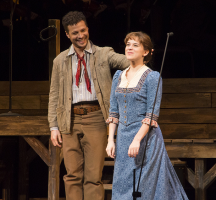 Justin Guarnieri and Alexandra Socha in Paint Your Wagon at Encores