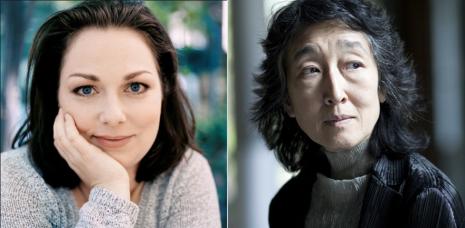 Soprano Dorothea Röschmann (left) and pianist Mitsuko Uchida (right)