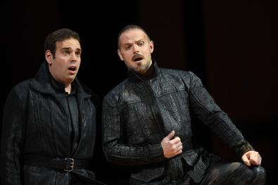 Dimitri Pittas and Troy Cook in Don Carlo (Opera Philadelphia)