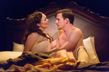 Jennie Eisenhower (Clara) and Ben Michael (Giorgio) in Passion at the Arden Theatre