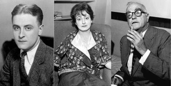 F. Scott Fitzgerald, Dorothy Parker, Thornton Wilder