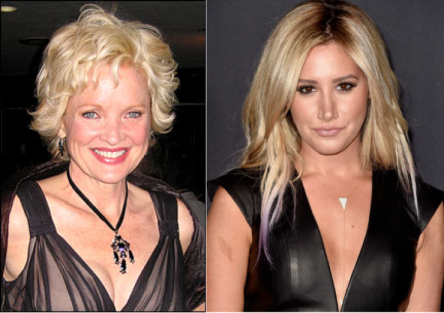 Broadway great Christine Eberole (left) did not present a Tony Award; non-entity Ashley Tisdale (right) did.