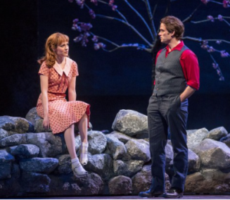 Laura Osnes (Julie) and Steven Pasquale (Billy) in Carousel at Chicago Lyric Opera