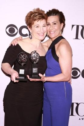 Off-camera Tony winners Lisa Kron and  Jeanine Tesori