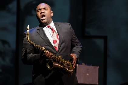 Lawrence Brownlee as Charlie Parker in Charlie Parker's Yardbird at Opera Philadelphia. (Photo by Dominic Mercier)