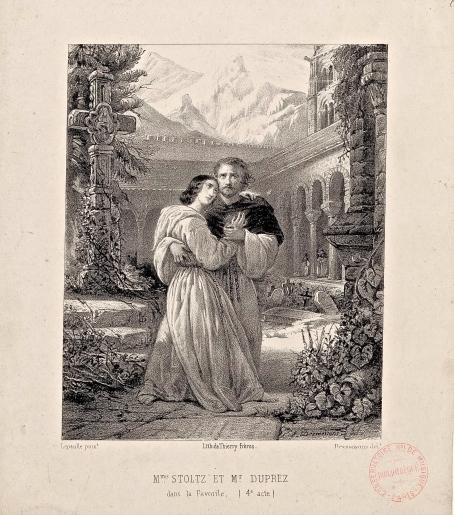 Gilbert_Duprez_&_Rosine_Stoltz_in_Donizetti's_La_Favorite_(400_dpi)