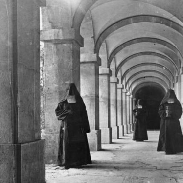 Nuns in a Carmelite Monastery