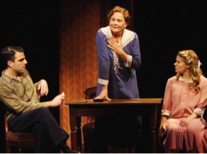 Zachary Quinto, Cherry Jones, Celia Keenan-Bolger -- two-thirds of a plausible family