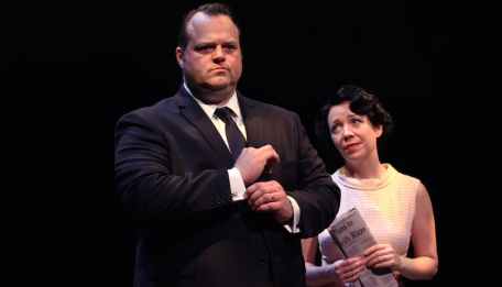 Scott Greer and Amanda Schoonover in Rizzo. (Photo by Paola Nogueras)