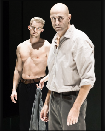 Russell Tovey and Mark Strong in A View from the Bridge. (Photo by Jan Versweyveld)