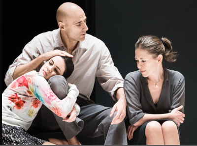 Phoebe Fox, Mark Strong, and Nicola Walker in A View from the Bridge. (Photo by Jan Versweyveld)