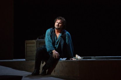 Roberto Aronica as Cavaradossi in Puccini's Tosca. Photo by Marty Sohl/Metropolitan Opera.
