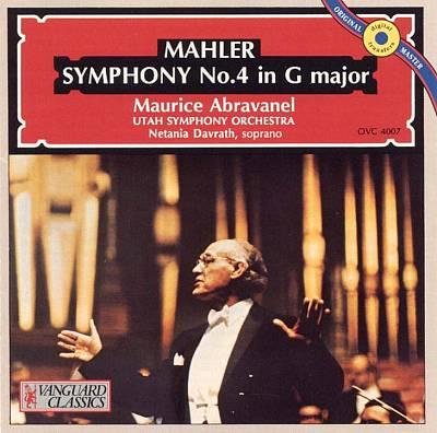 Abravanel Mahler 4 Cover